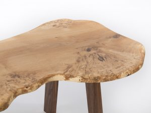 Large Burr Oak Coffee Table Close