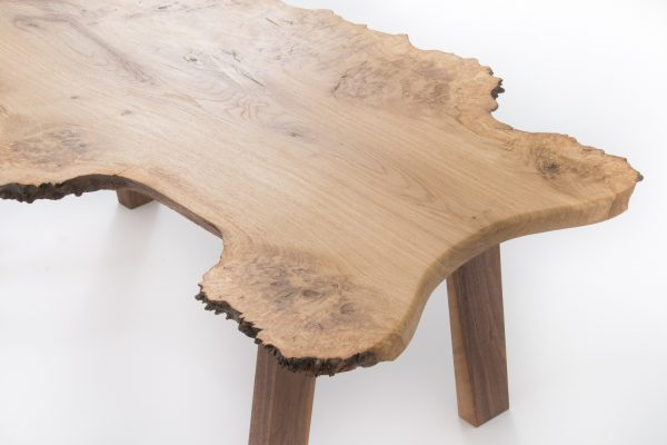 Live Burr Oak Coffee Table Close Up