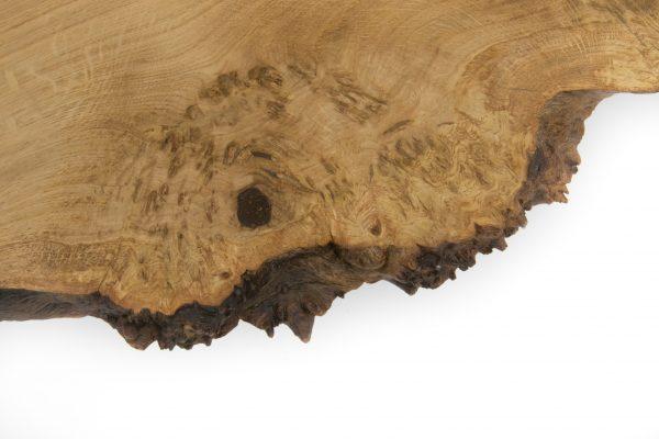 Live Edge Burr Oak Coffee Table American Black Walnut Legs Close Up