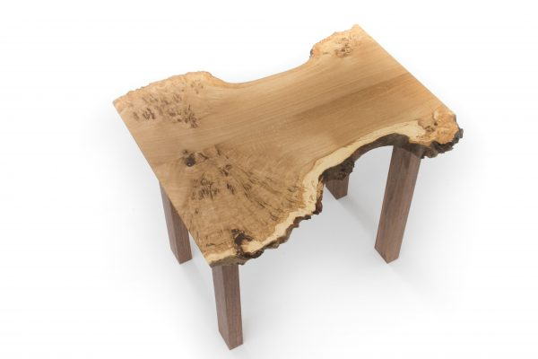 Burr Oak Side Table Top