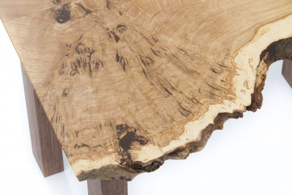Burr Oak Side Table Close Up