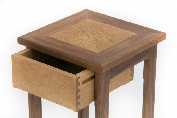 Superior Oak Side Table Close Up