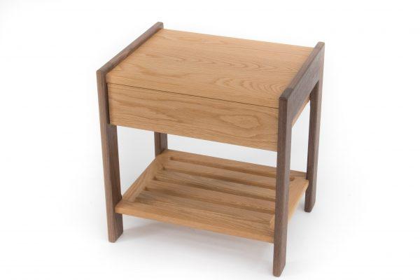 Oak Side Table Angle