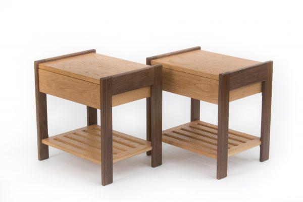 Oak Side Table Pair