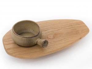 Soup Bowl with Oak Side Board
