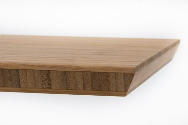 Oriental Bamboo Chopping Board sloping side