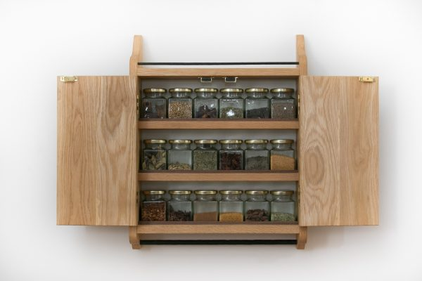 Oak Spice Cupboard Rack